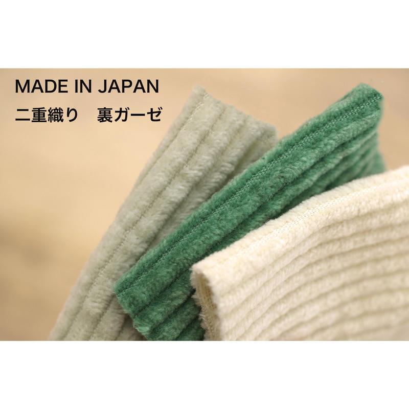 【2重織り 裏ガーゼ】 fanage コットン100% 太コーデュロイ 生地 4mm畝/1m  made in japan