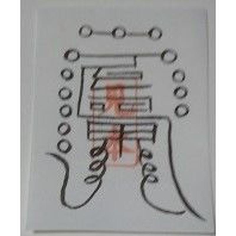 16-2)怨念・怨霊除符 怨霊を除去する・怨霊退散護符(携帯用1枚)