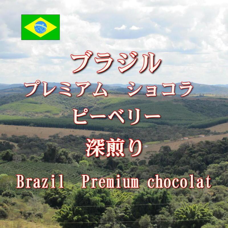 <<コーヒー豆 通販>>ブラジル プレミアムショコラ ピーベリー 深煎り 100g