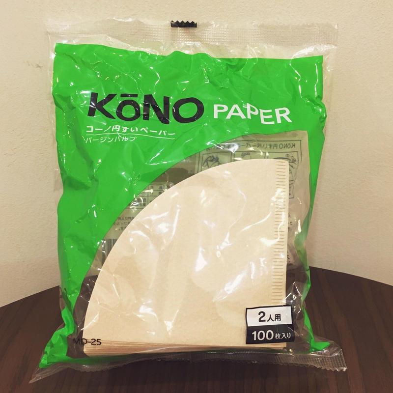 純正 KONO ペーパーフィルター 2人用 ブラウン 100枚