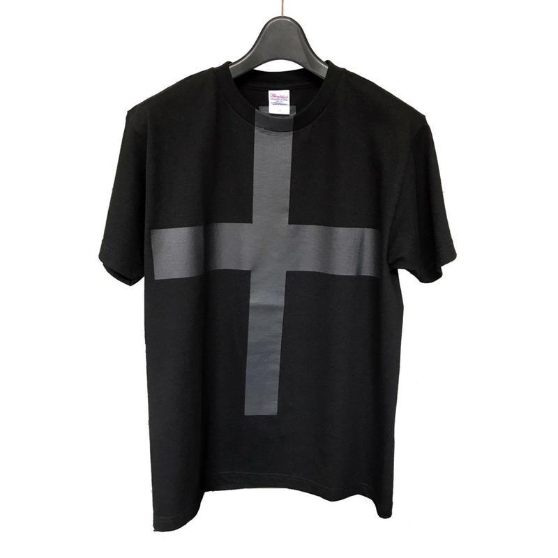 Mens PRINT-Tshirt (black × black print)