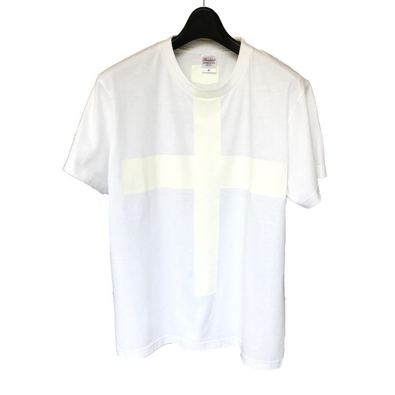 Mens PRINT-Tshirt (white × white print)