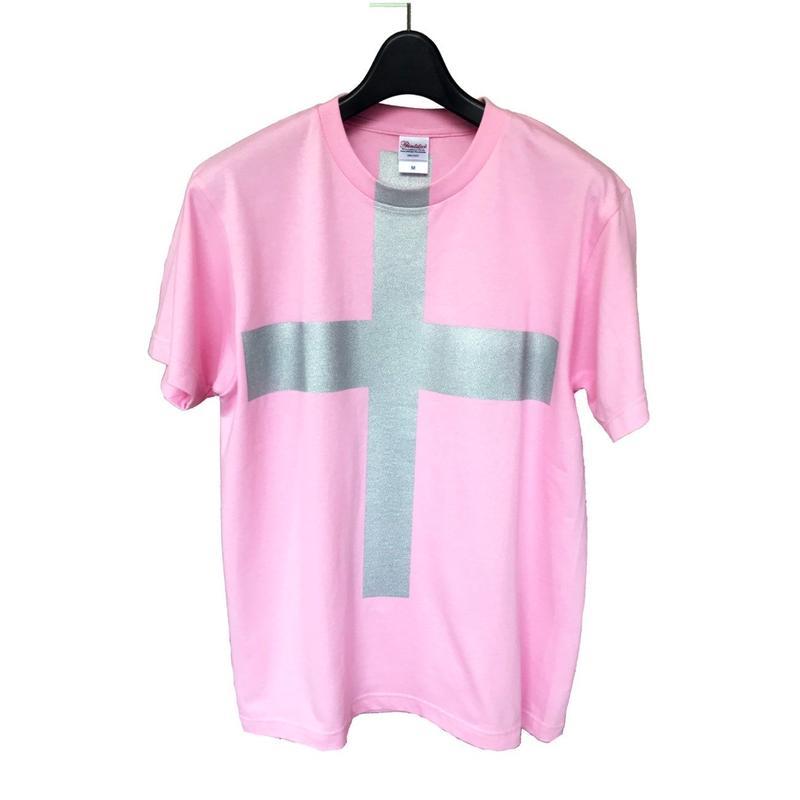 Mens PRINT-Tshirt (pink × silver print)