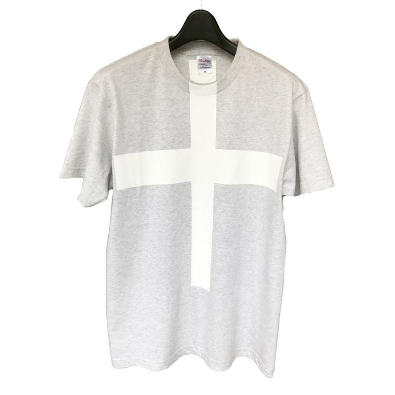 Mens PRINT-Tshirt (outmeal × white print)