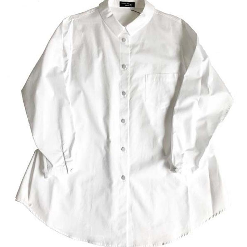 Cotton broad blouse/white(再入荷)