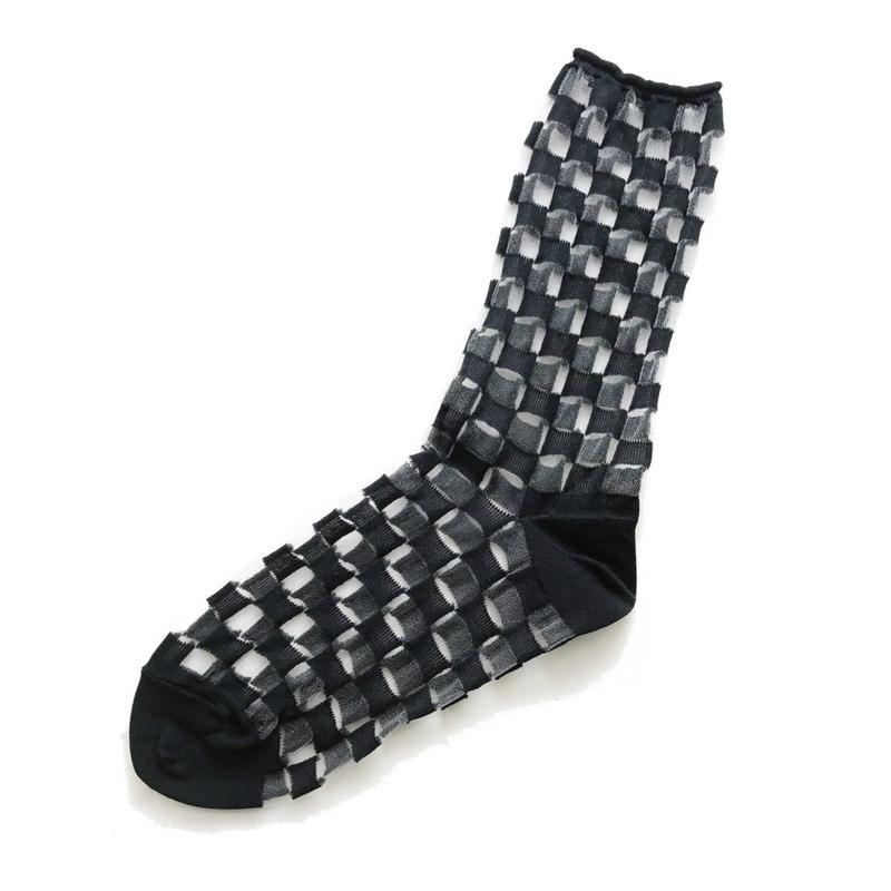 Nylon plaid socks