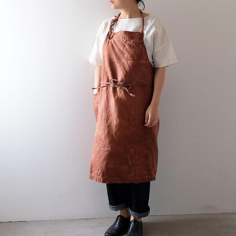 柿渋エプロン(右ポケット/胸ポケット)
