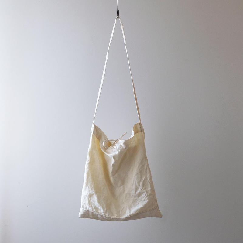 リネンショルダーバッグ