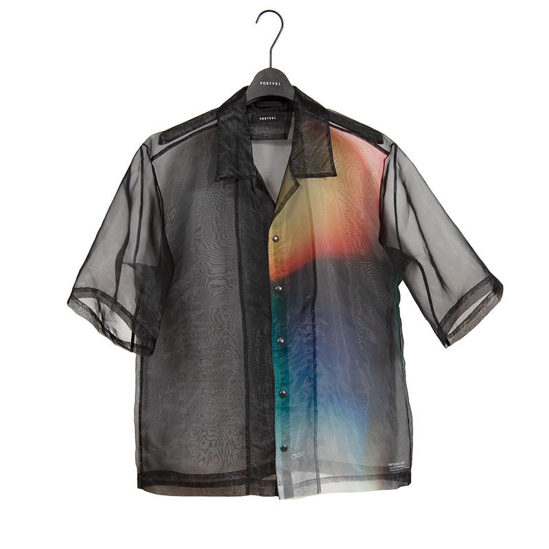 OPEN COLLAR SHIRT S/S(MESH) [PV191-S07]