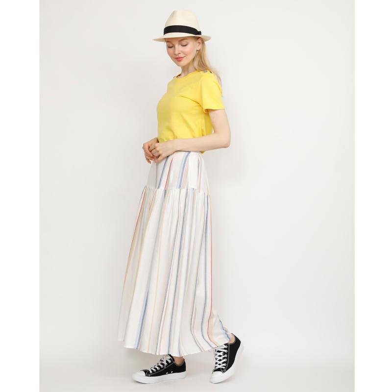 カラー クルーネック半袖Tシャツ