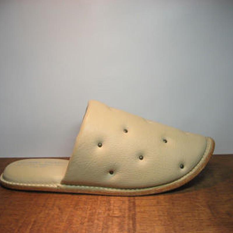 Sofa Slippers STUDS IVORY