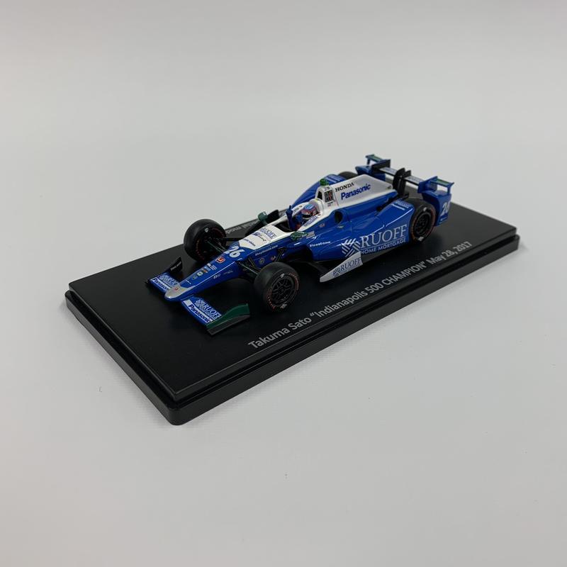 佐藤琢磨2017年インディ500優勝モデルカーauto sport限定仕様(1/43スケール)
