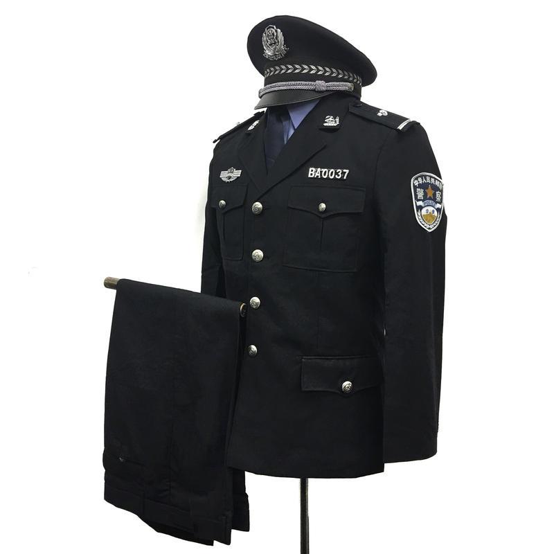 【お得】中国人民公安警察 99式 春秋制服 オプションパーツ付き上下セット
