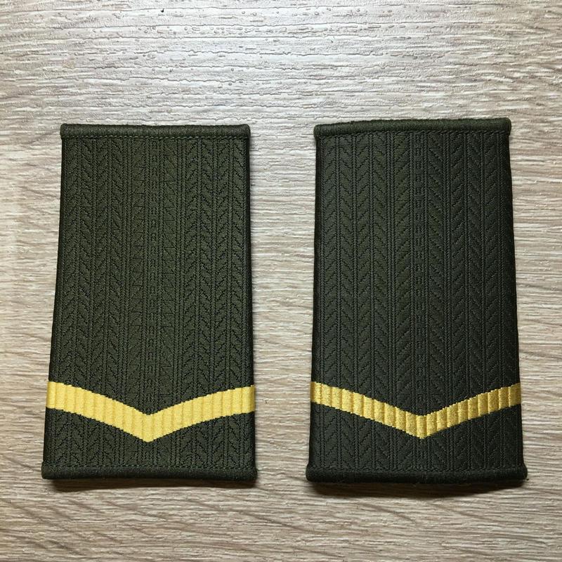 【コレクター商品】中国人民解放軍99式 陸軍 筒式肩章 列兵