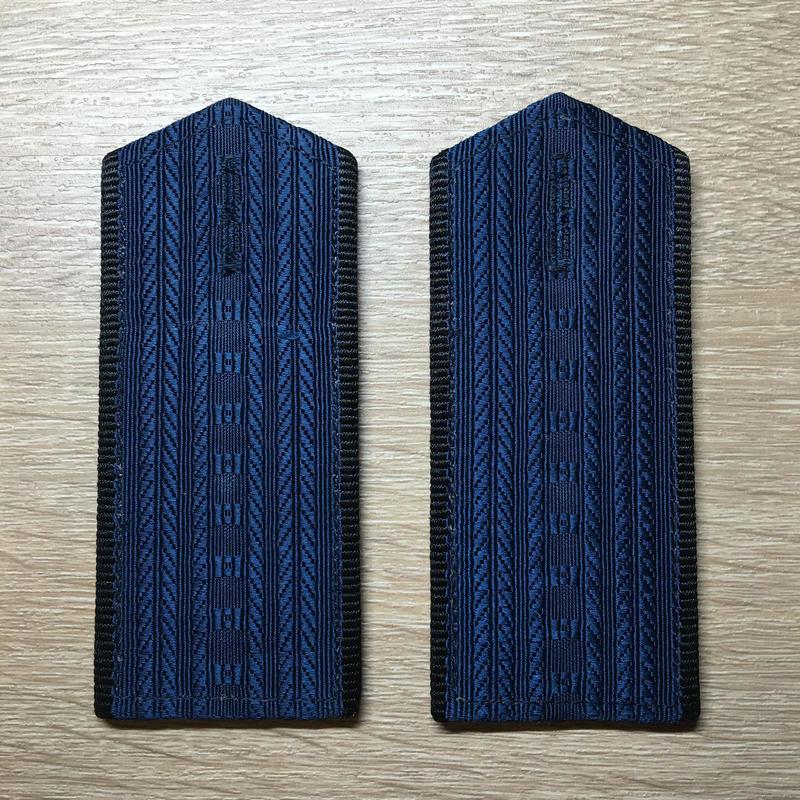 【コレクター商品】中国人民解放軍87式 海軍 文職幹部 制服専用肩章(文職花なし)