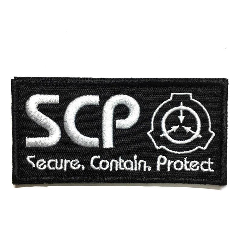 【10cmX5cm】SCP財団 シンボル 刺繍ベルクロワッペン マジックテープ 識別章