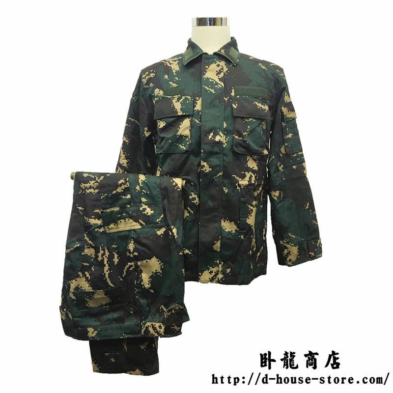 中国人民解放軍 07式陸軍特種兵猟人迷彩 上下セット