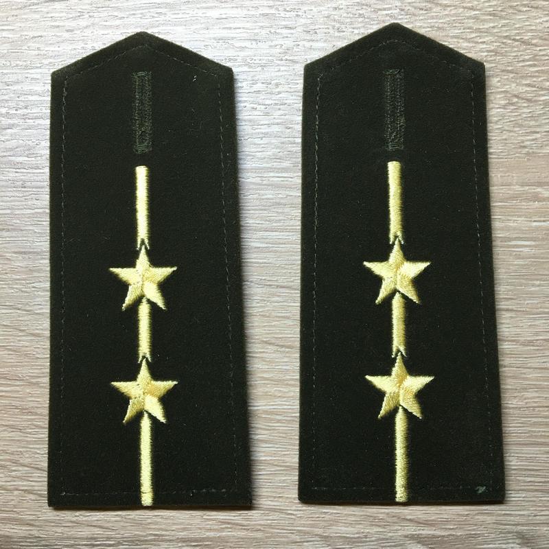 【コレクター商品】中国人民解放軍87式 陸軍肩章  中尉