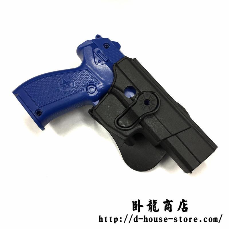 QSZ92式拳銃用 ヒップホルスター プラスチック樹脂製 右利き用  中国人民解放軍 武装警察 武警 公安警察