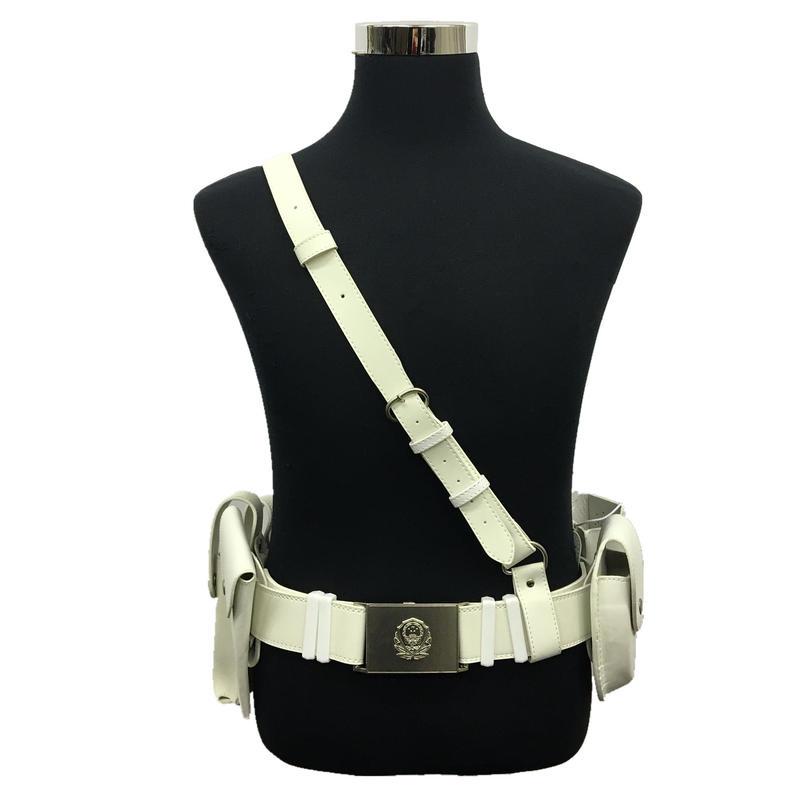 【白】中国公安警察パトロール用ベルトセット