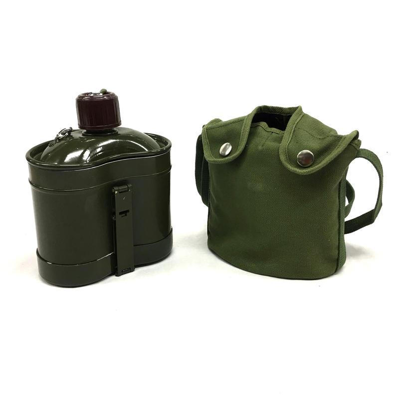 中国軍78式水筒飯盒セット 武装警察用緑塗装 実物