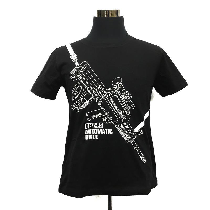 QBZ95-1式自動歩銃柄 Tシャツ 解放軍クラスタグッズ 黒・白