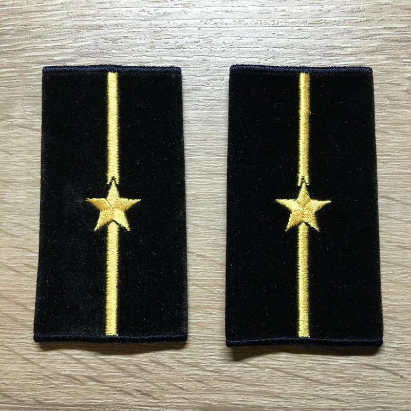 【コレクター商品】中国人民解放軍87式 海軍 少尉 筒式肩章(1992年~)