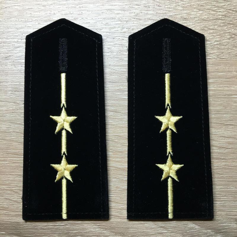 【コレクター商品】中国人民解放軍87式 海軍肩章  中尉