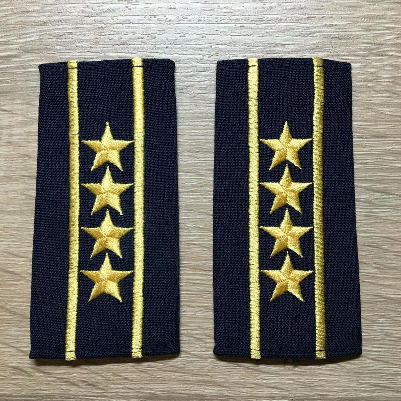 【コレクター商品】中国人民解放軍87式 海軍 大校 筒式肩章(1988年~1992年)
