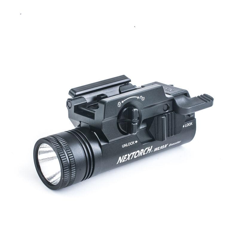 【NEXTORCH】WL10X型 230ルーメン ハンドガン用タクティカルライト (ウェポンライト) 実物 防水 小型 軽量 高輝度
