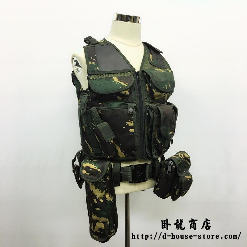 中国人民解放軍 特種兵猟人迷彩10式Aベストセット