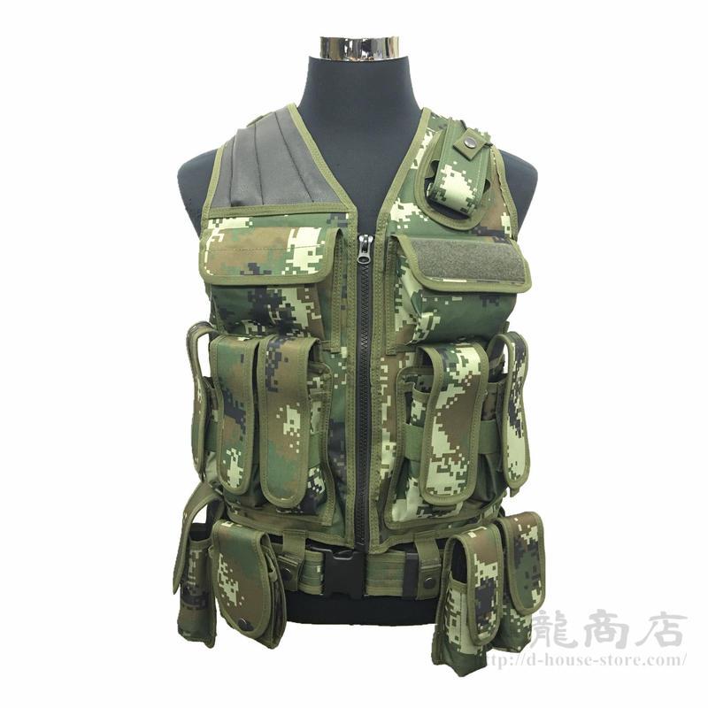 【実物】中国人民武装警察 V1タイプ戦闘ベスト 07式夏用迷彩柄