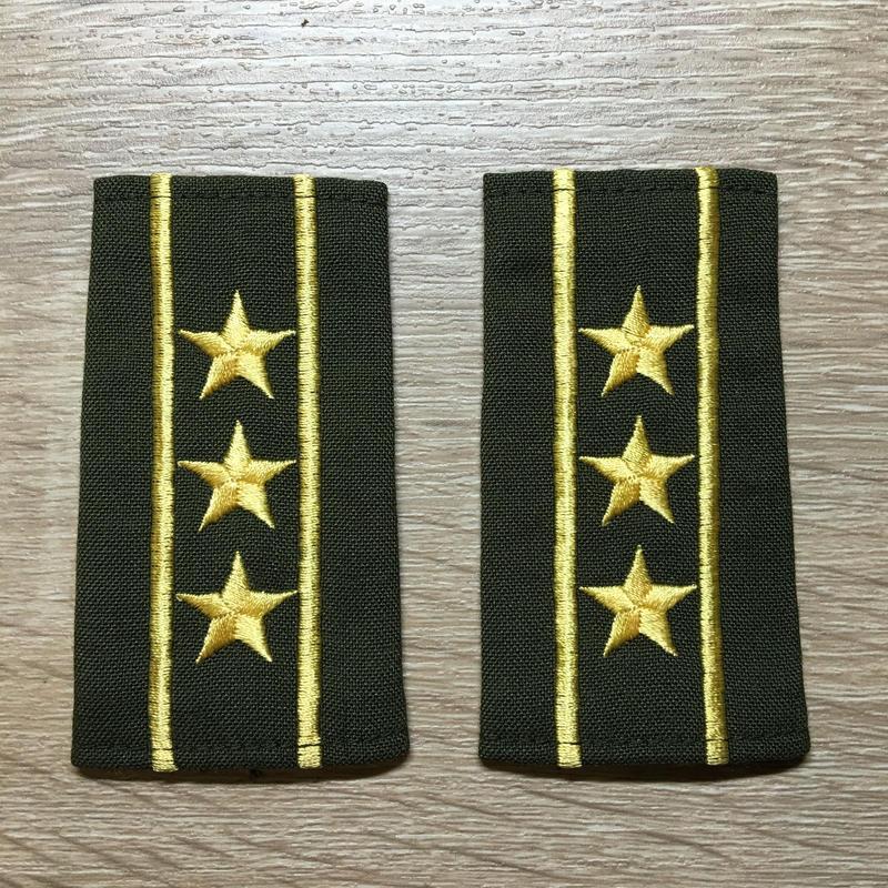 【コレクター商品】中国人民解放軍87式 陸軍 上校 筒式肩章(1988年~1992年)