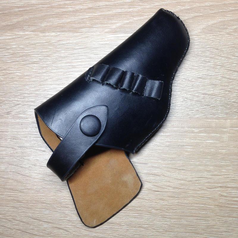 中国公安警察64式拳銃革製ホルスター マガジンポーチ付き