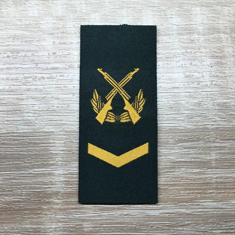 【中士】武装警察特戦&特種兵用 片腕ベルクロ階級章