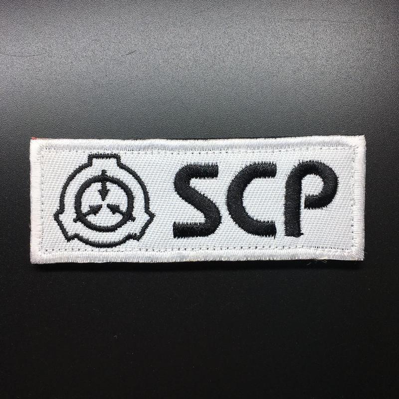 【8cmX3cm】SCP財団 シンボル 刺繍ベルクロワッペン マジックテープ 識別章