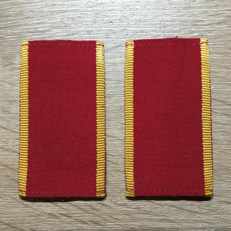 【コレクター商品】中国人民解放軍87式 陸軍 学員 筒式肩章