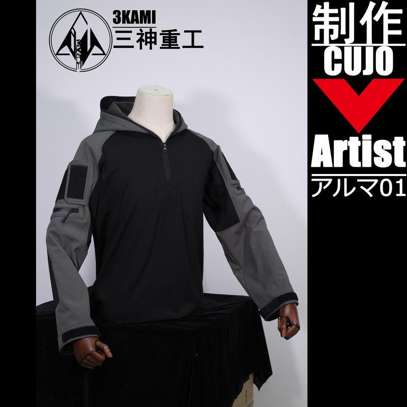 【叁神氏重工】フード付きタクティカルコンバットシャツ アルマ01同人デザイン