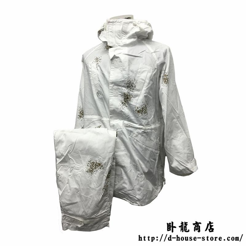 【実物】中国人民解放軍雪地迷彩偽装服 上下セット