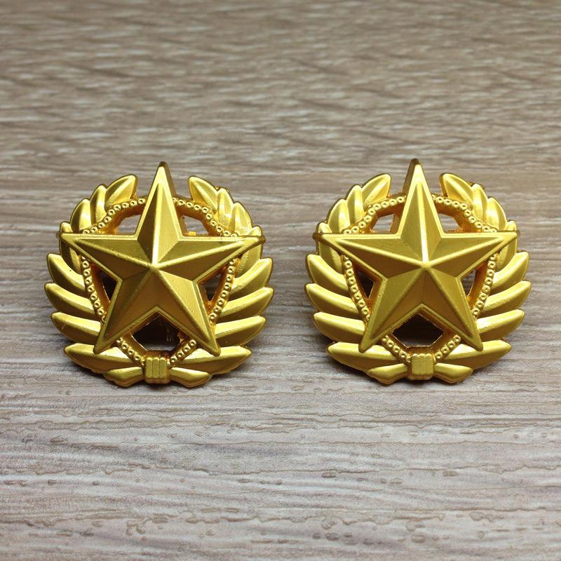 中国人民武装警察07式夏制服用襟章 軍官用
