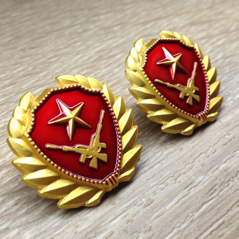 中国人民武装警察07式夏制服用襟章 兵士用