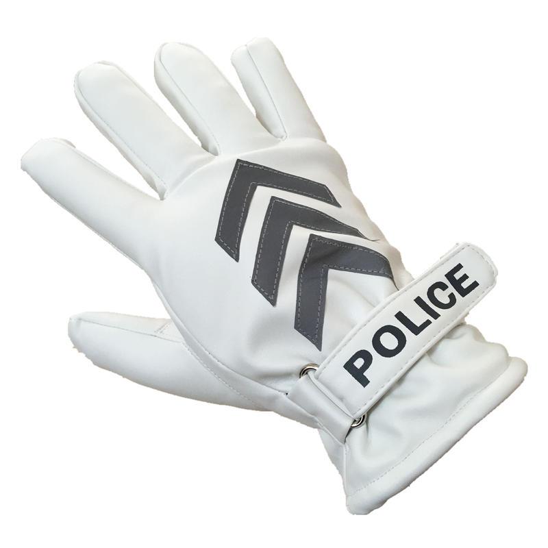 中国人民公安警察 交通警察 防寒手袋 ホワイト