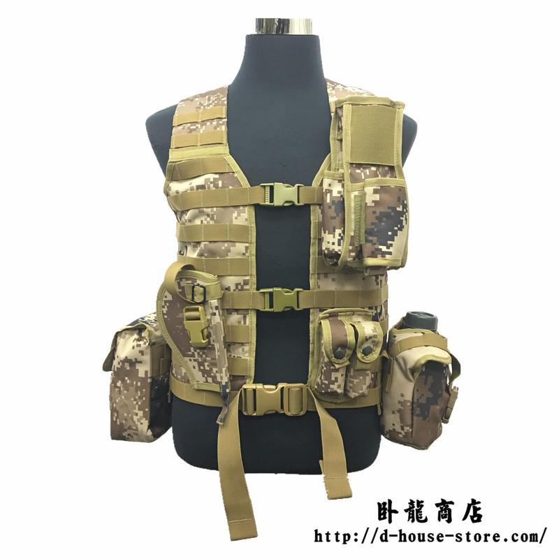 【実物】中国人民解放軍 06式通用単兵携行具 荒漠迷彩 幹部配置セット