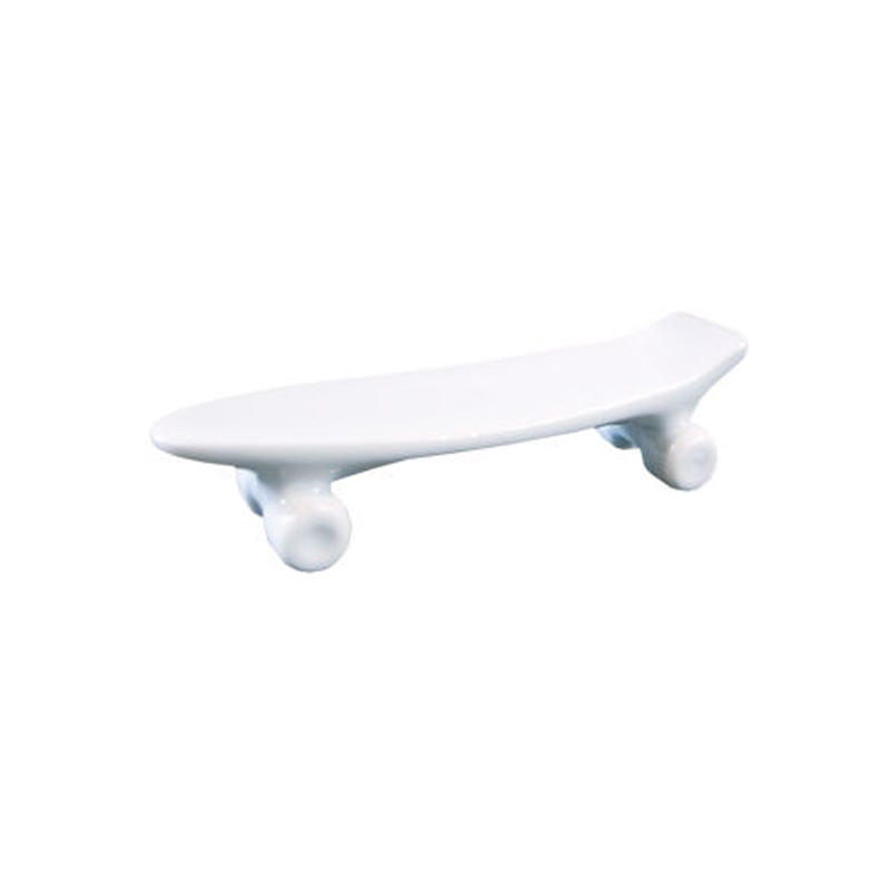 skate board chopstick rest (white)