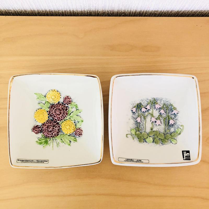 Jie Gantofta/ジィガントフタ/陶板/リネアのお花と小菊/2枚セット