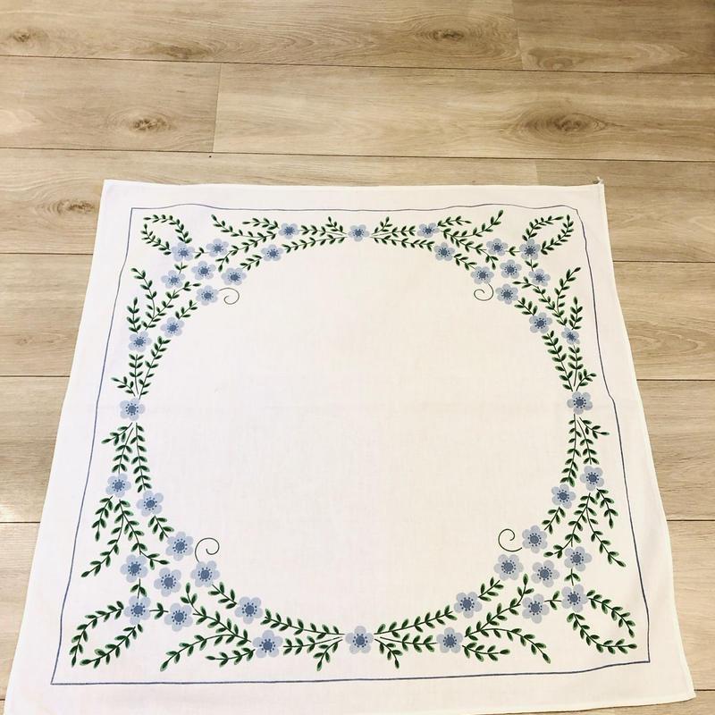 プリントクロス/木綿/ブルーの小花