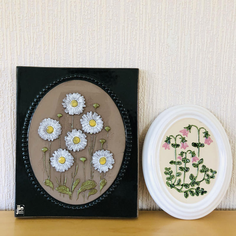 Jie Gantofta/ジィ ガントフタ/GABRIEL/ガブリエル/陶板/マーガレットとリネアのお花