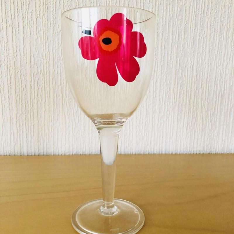 Marimekko/マリメッコ/Unikko/ウニッコ/ワイングラス/メラミン樹脂/レッド