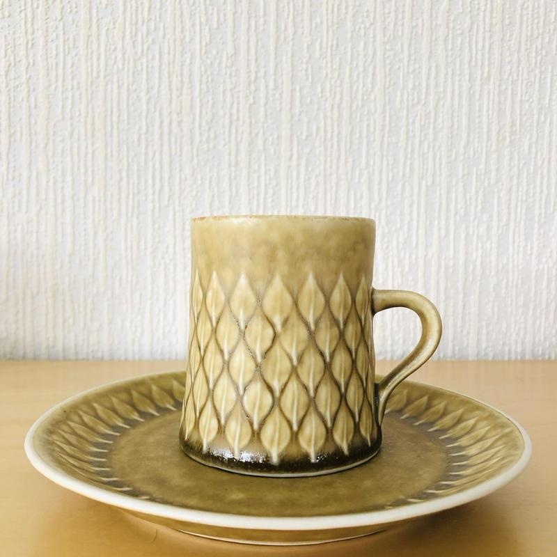Jens.H.Quistgaard/イエンス.H.クイストゴー/レリーフ/コーヒーカップ&デザートプレート16cm/CP-02