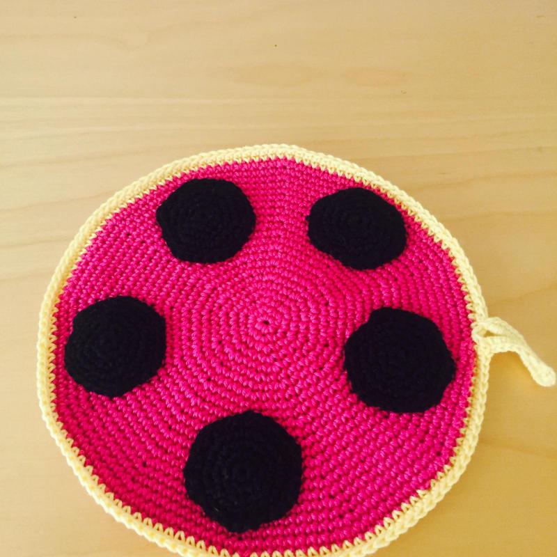 手編みのポットマット/ポットホルダー